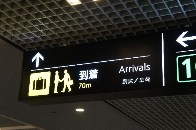 空港でのピクトグラム。
