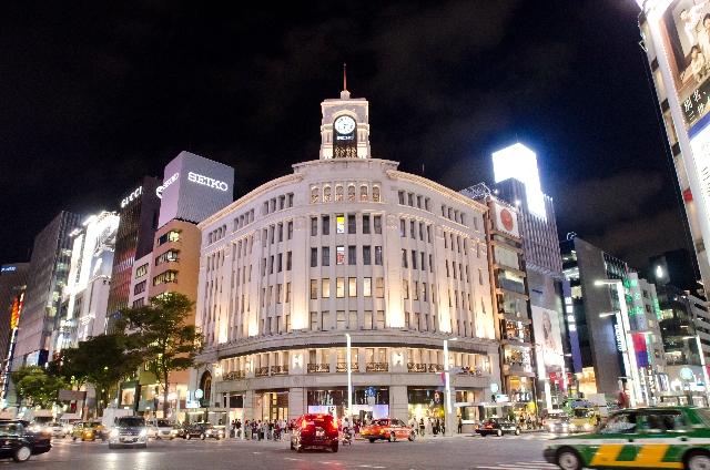 東京、銀座4丁目、和光。