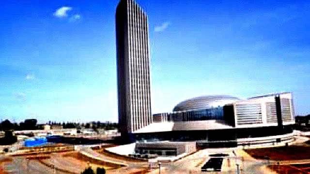 首都アディス・アババで、中国が「プレゼント」したアフリカ連合の新しいビル。