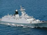 中国海軍艦、尖閣接続水域に入る