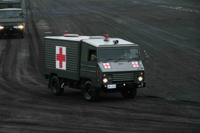 自衛隊には非装甲の救急車しかない