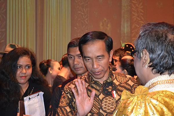 J170209インドネシアのジョコ・ウィドド大統領(大塚智彦撮影)
