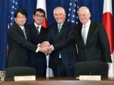 日米、2+2で「核の傘」保つ