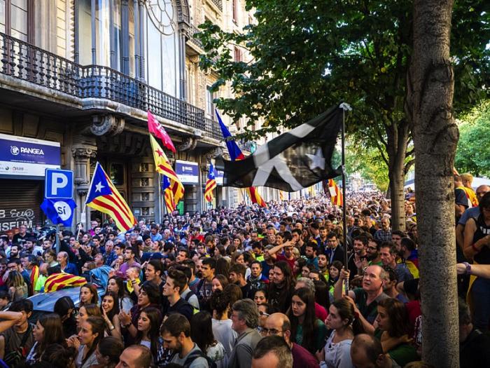 バルセロナデモ9月20日2017年
