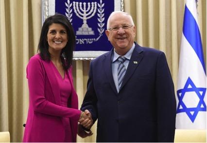 ヘイリー米国連大使とリブリン大統領