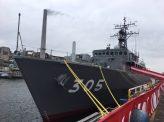 最新にして最大の掃海艦就役
