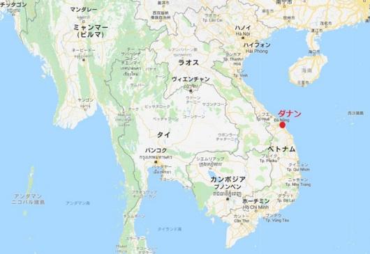 図)ベトナムのダナン