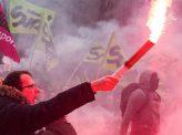 仏国鉄スト、政府改革案に抗議